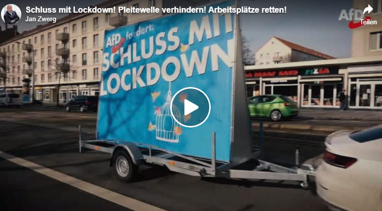 VIDEO +++ Schluss mit Lockdown! Pleitewelle verhindern! Arbeitsplätze retten!